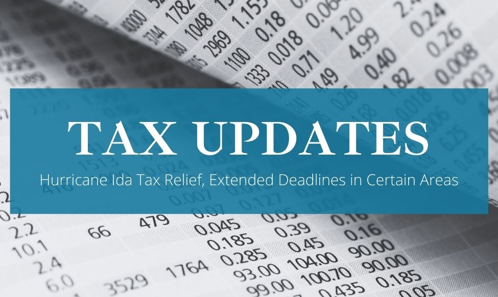 Hurricane Ida Tax Relief in NY: Updates and Extensions